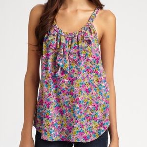 Rebecca Taylor floral print camisole with ruffle